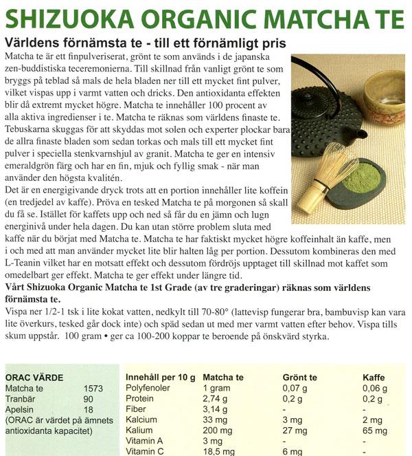 Matcha info